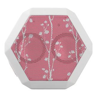 Oriental plum blossom pattern white boombot rex bluetooth speaker