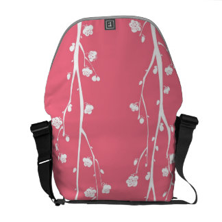 Oriental plum blossom pattern courier bag