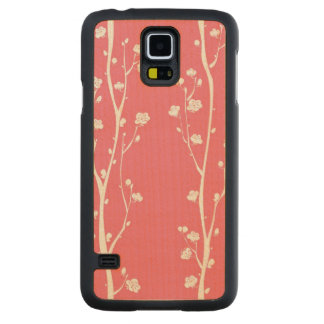 Oriental plum blossom pattern maple galaxy s5 slim case