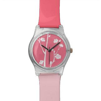 Oriental plum blossom pattern watches