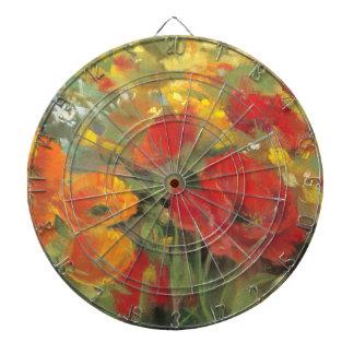 Oriental Poppy Field Dartboard