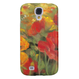 Oriental Poppy Field Galaxy S4 Case