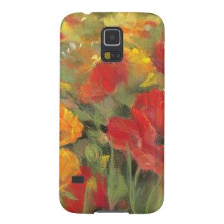 Oriental Poppy Field Galaxy S5 Cases