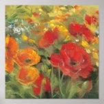 Oriental Poppy Field Poster