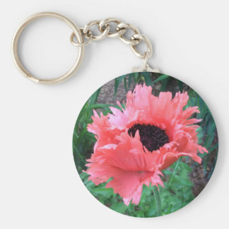 "Oriental POPPY ""Pink Ruffles"" --- Key Ring"