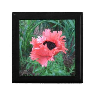 "Oriental POPPY ""Pink Ruffles"" --- Small Square Gift Box"
