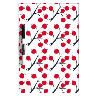 oriental red berry dry erase white board