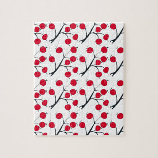 oriental red berry jigsaw puzzle