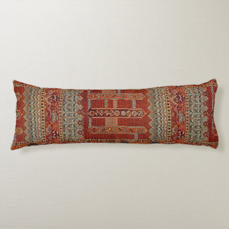 Oriental rug design in orange body cushion