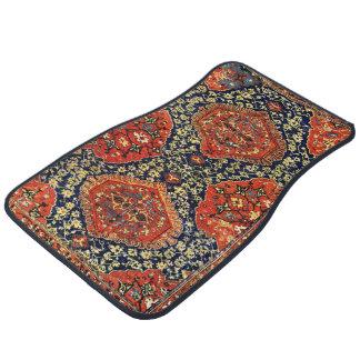 Oriental rug in blue&orange