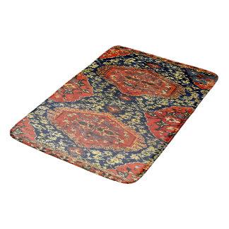 Oriental rug in blue&orange bath mats