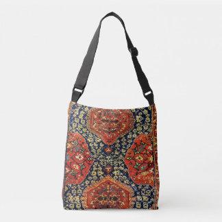 Oriental rug in blue&orange crossbody bag