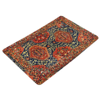 Oriental rug in blue&orange floor mat