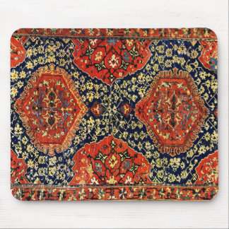 Oriental rug in blue &orange mouse pad