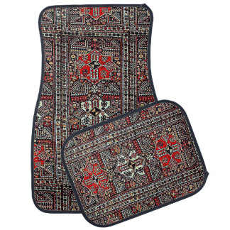 Oriental rug in red white black