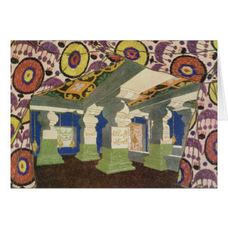 Oriental Scenery Design (colour litho) 2 Card