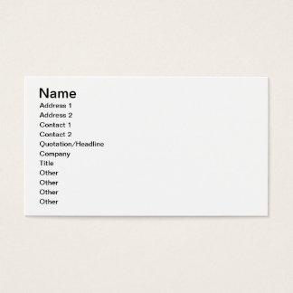Oriental Scenery Design (colour litho) Business Card