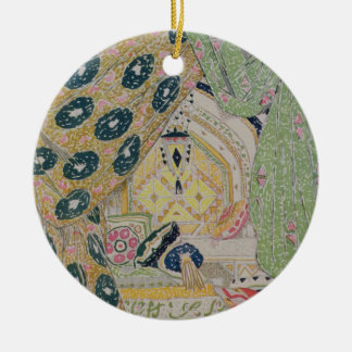 Oriental Scenery Design (colour litho) Christmas Ornament