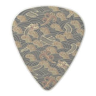 Oriental Sea Dragon Pattern Acetal Guitar Pick