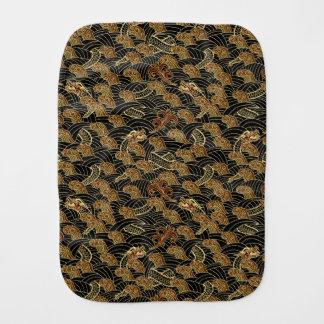 Oriental Sea Dragon Pattern Burp Cloth