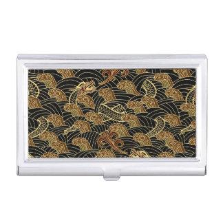 Oriental Sea Dragon Pattern Business Card Holder