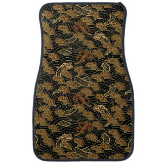 Oriental Sea Dragon Pattern Car Mat