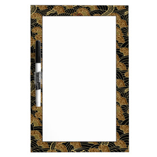 Oriental Sea Dragon Pattern Dry Erase Board