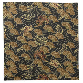 Oriental Sea Dragon Pattern Napkin
