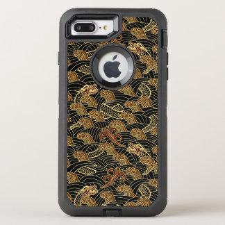 Oriental Sea Dragon Pattern OtterBox Defender iPhone 8 Plus/7 Plus Case