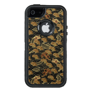 Oriental Sea Dragon Pattern OtterBox Defender iPhone Case