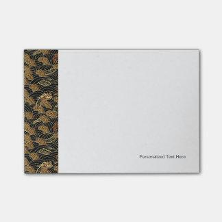 Oriental Sea Dragon Pattern Post-it Notes