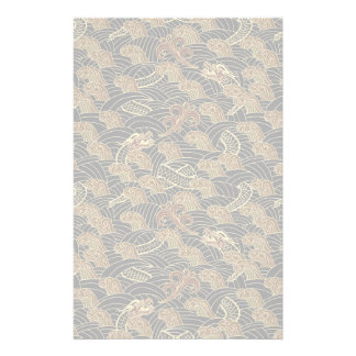 Oriental Sea Dragon Pattern Stationery