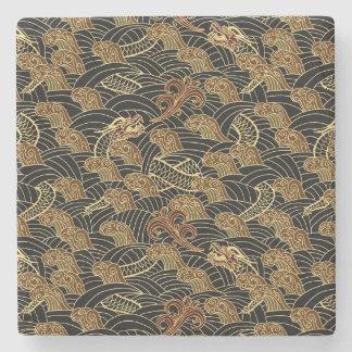 Oriental Sea Dragon Pattern Stone Coaster