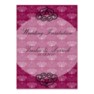 Oriental Style Chinese Wedding Invitation Card