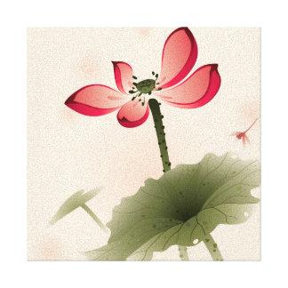 Oriental style Lotus Canvas Print