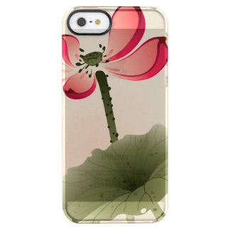 Oriental style Lotus Clear iPhone SE/5/5s Case