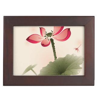 Oriental style Lotus Keepsake Box