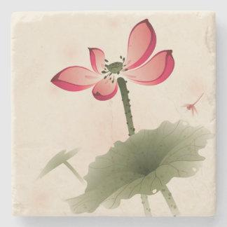 Oriental style Lotus Stone Coaster