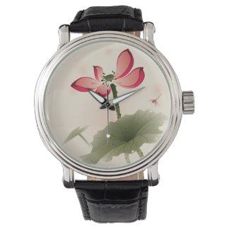 Oriental style Lotus Wristwatch
