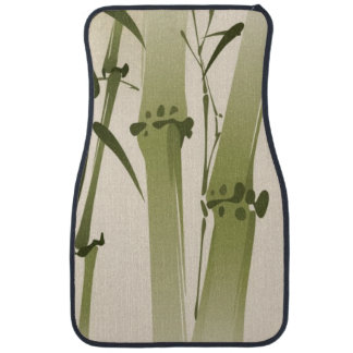 Oriental style painting, bamboo branches 2 car mat