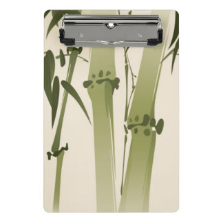 Oriental style painting, bamboo branches 2 mini clipboard
