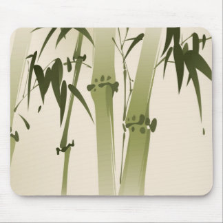 Oriental style painting, bamboo branches 2 mouse mat