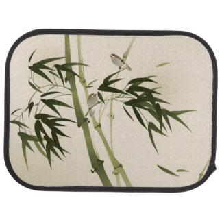 Oriental style painting, bamboo branches car mat