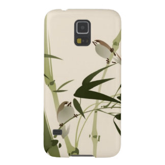 Oriental style painting, bamboo branches case for galaxy s5