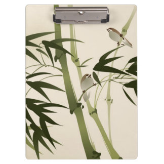 Oriental style painting, bamboo branches clipboard