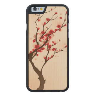 Oriental style painting, plum blossom in spring 2 carved® maple iPhone 6 case