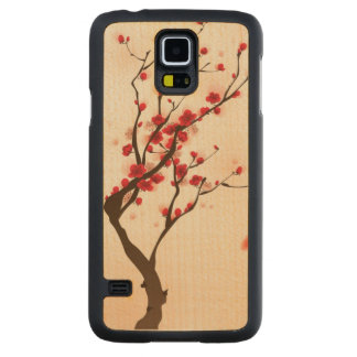 Oriental style painting, plum blossom in spring 2 maple galaxy s5 slim case