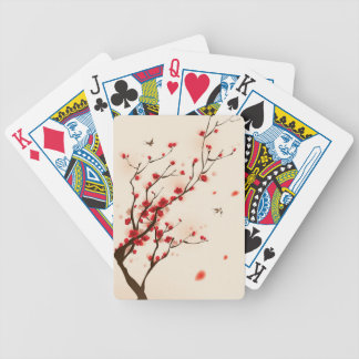 Oriental style painting, plum blossom in spring 2 poker deck