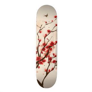 Oriental style painting, plum blossom in spring 2 skate board decks