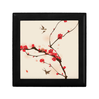 Oriental style painting, plum blossom in spring 3 gift box